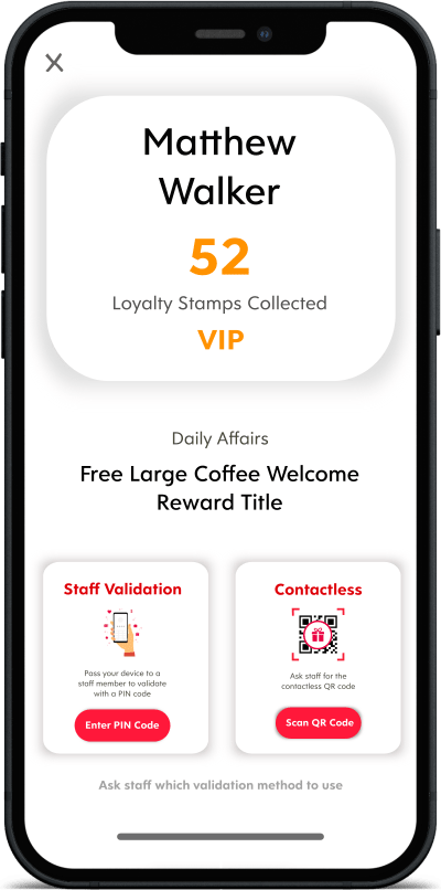 Screenshot of Flex Rewards Validation Options