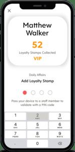 Staff Validation of Flex Rewards Loyalty Stamp with 4-Digit PIN