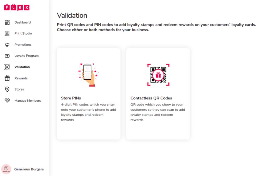 Validation Page of Merchant Portal