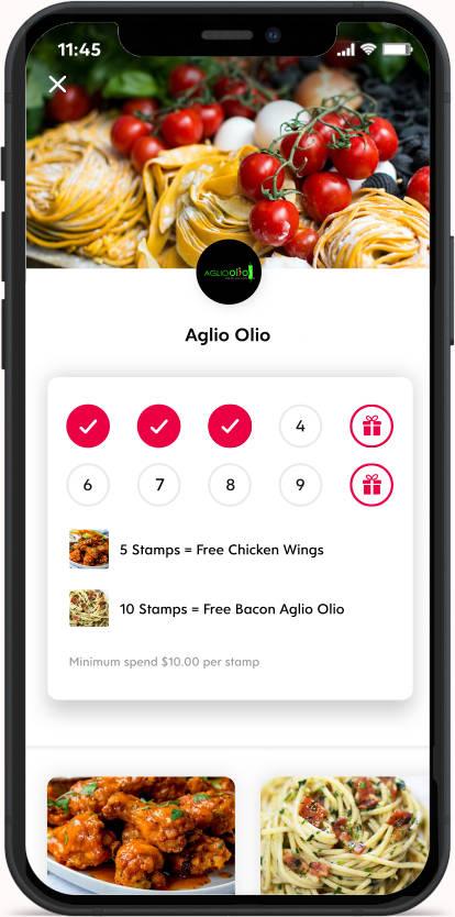 Flex Rewards Digital Loyalty Card for Aglio Olio