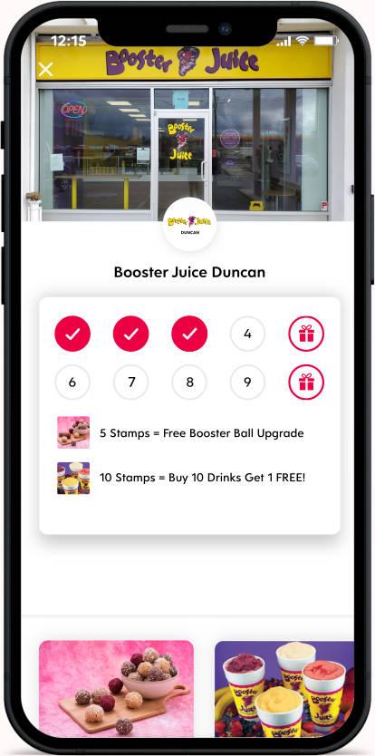 Flex Rewards Digital Loyalty Card for Booster Juice Duncan