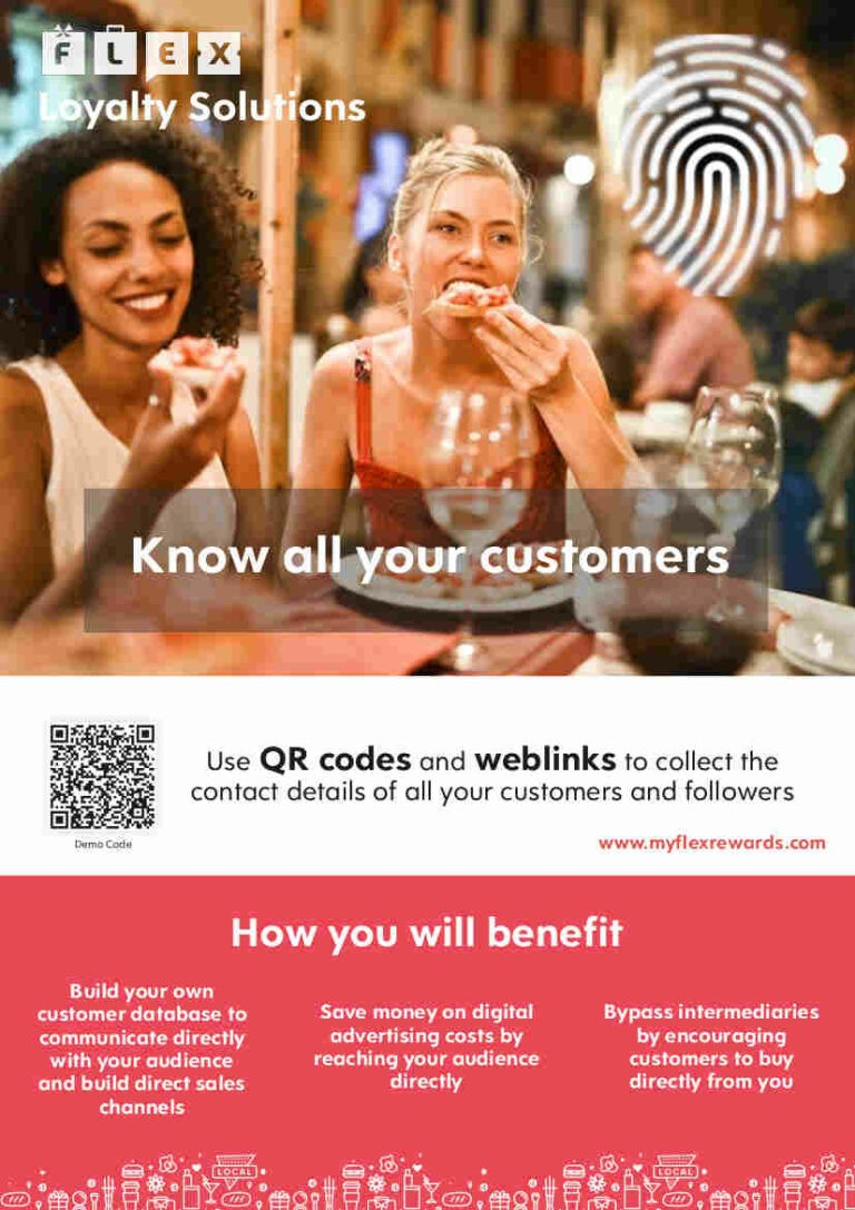 Flex Rewards Info Sheet PDF Brochure Explaining Features and Benefits for Loyalty Solutions