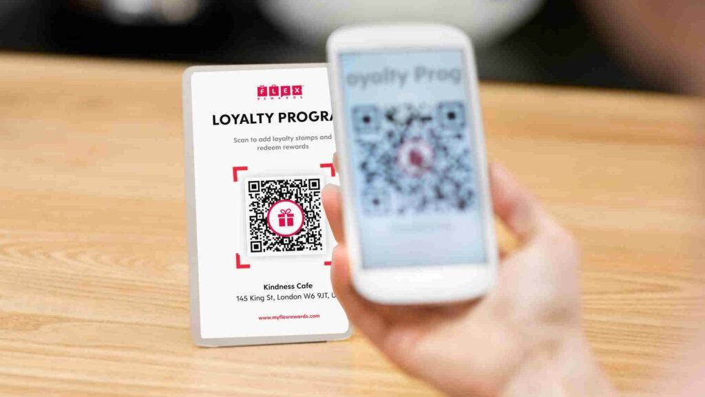 Flex Rewards Contactless QR Code to Add Stamps and Redeem Rewards