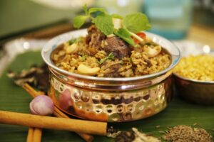 machan's kitchen tamil curry dish served in a pewter bowl