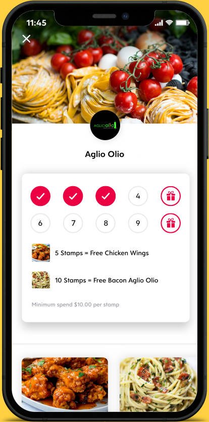 Flex Rewards Digital Loyalty Card for Aglio Olio