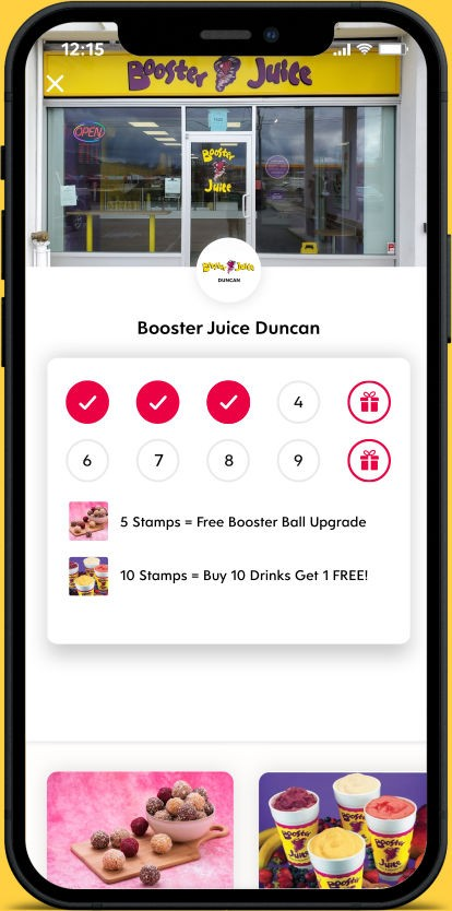 Flex Rewards Digital Loyalty Card for Booster Juice Duncan