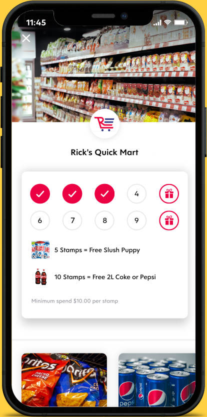 Flex Rewards Digital Loyalty Card for Rick's Quick Mart