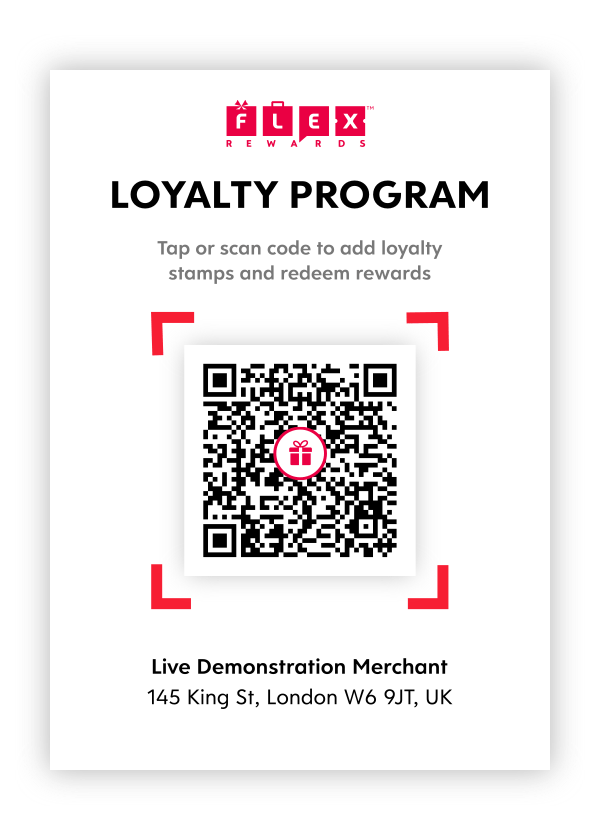QR Code For Customers to Scan