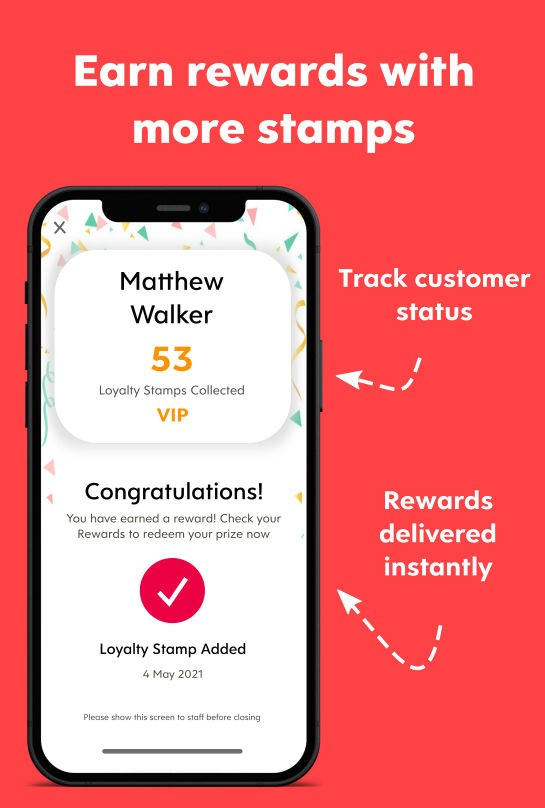Infographic of Customers Earn Rewards with More Stamps