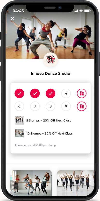 Flex Rewards Digital Loyalty Card for Dance Studio
