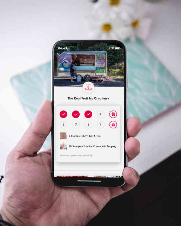 Iphone Screenshot of Flex Rewards Digital Loyalty Card for The Real Fruit Icecreamery