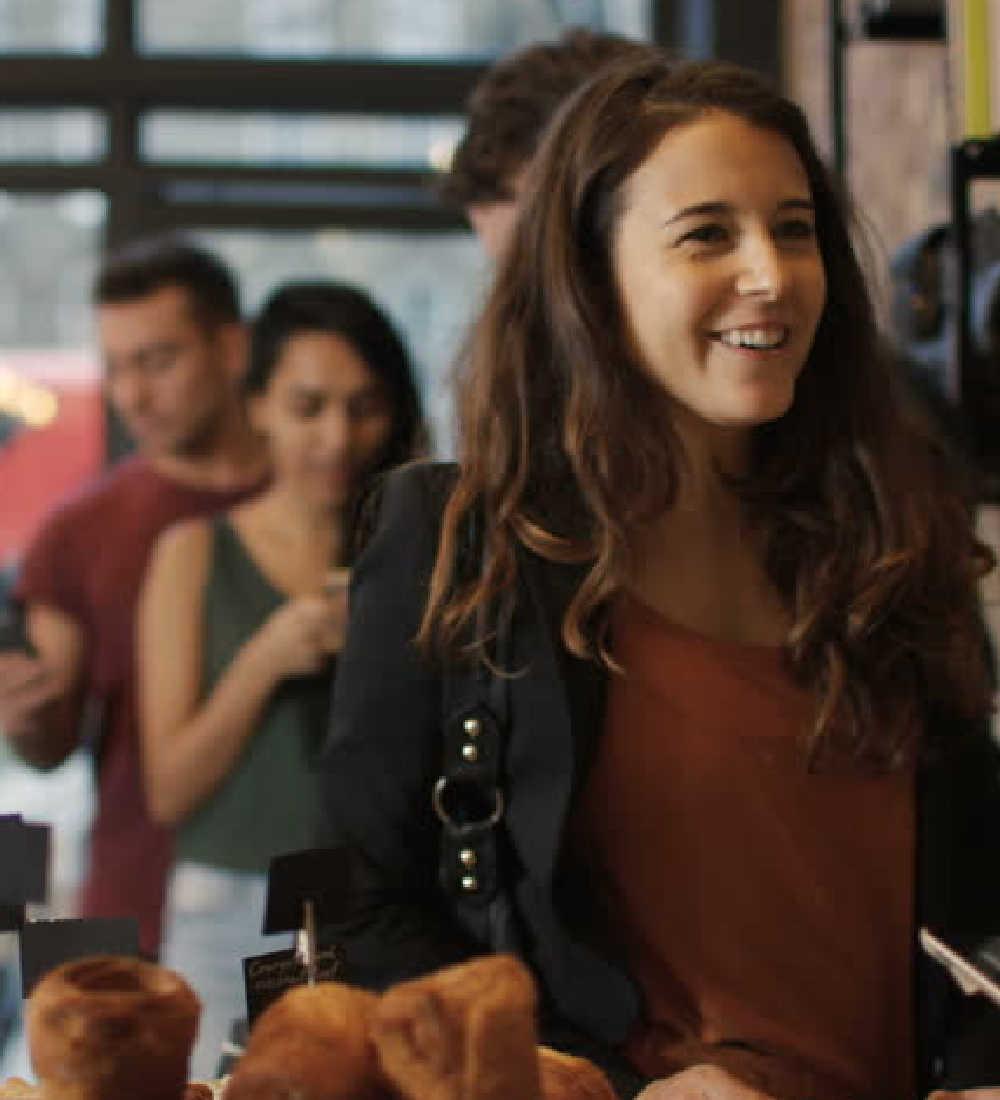 Queue in Coffee Shop of Flex Rewards Merchant